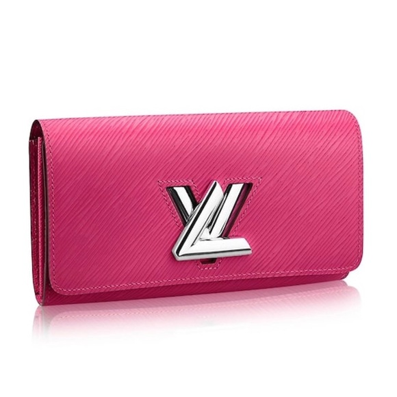 fbfe35a27cfbd Louis Vuitton Epi Leather Twist Wallet Hot Pink